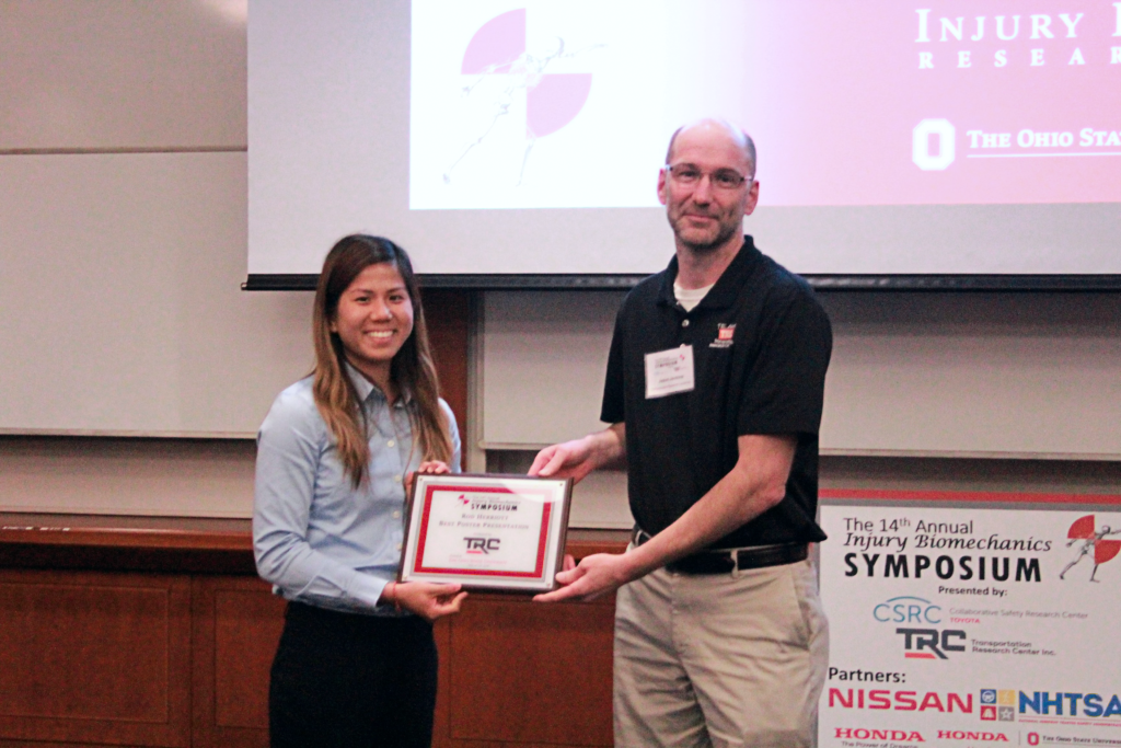 Rod Herriott Best Poster Presentation winner: Fiona Khor