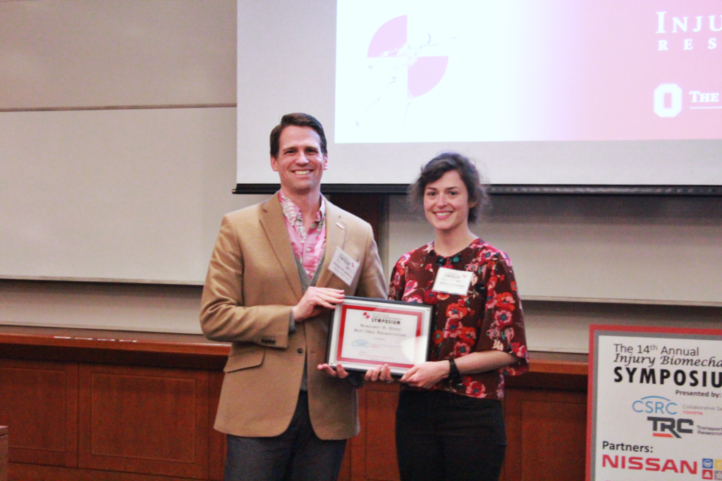 Margaret H. Hines Best Oral Presentation winner: M'Beth Schoenfeld
